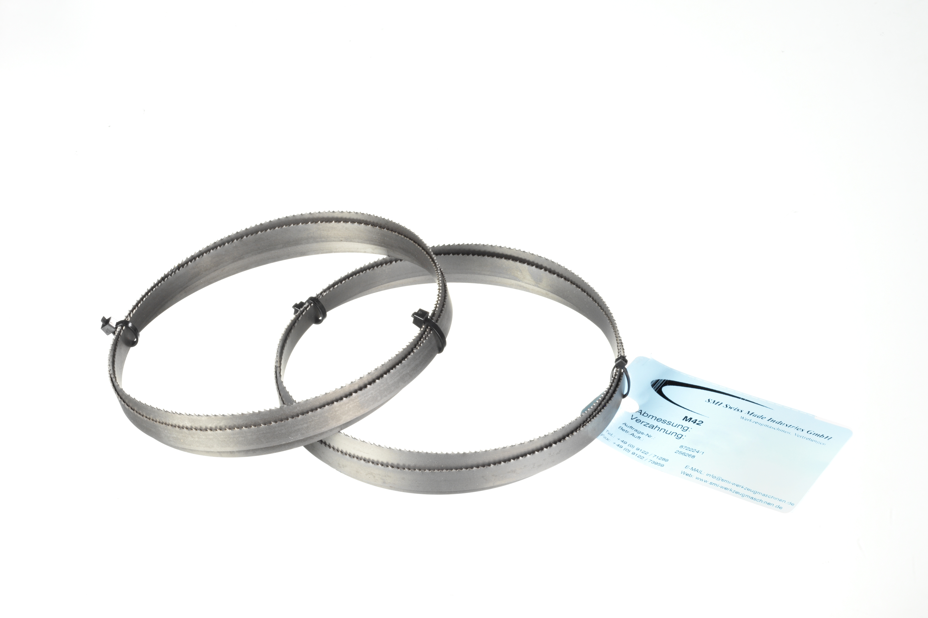 2 x M42 HSS Bimetall S/ägeb/änder S/ägeband 1638 x 13 x 0,65 mm 8//12 ZpZ Edelstahl