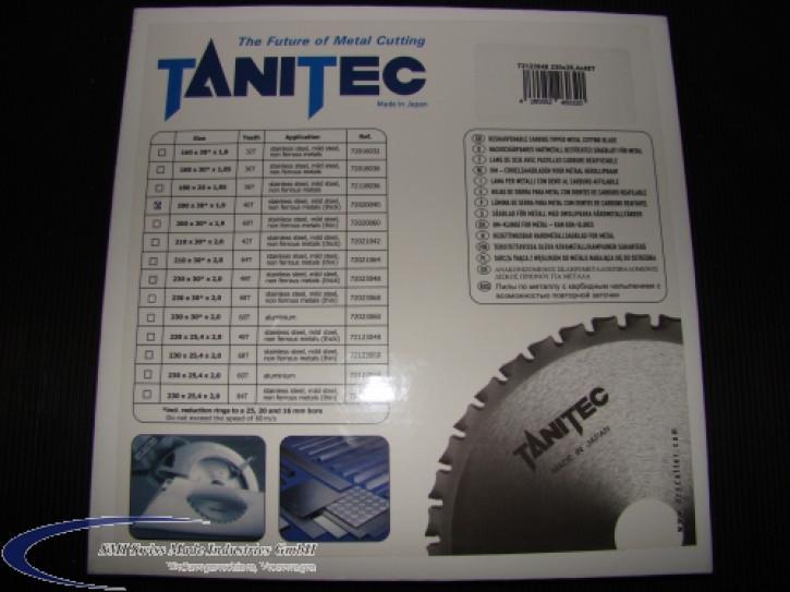 TANITEC HM-Kreissägeblatt 200x30x1,9 mm 40 Z