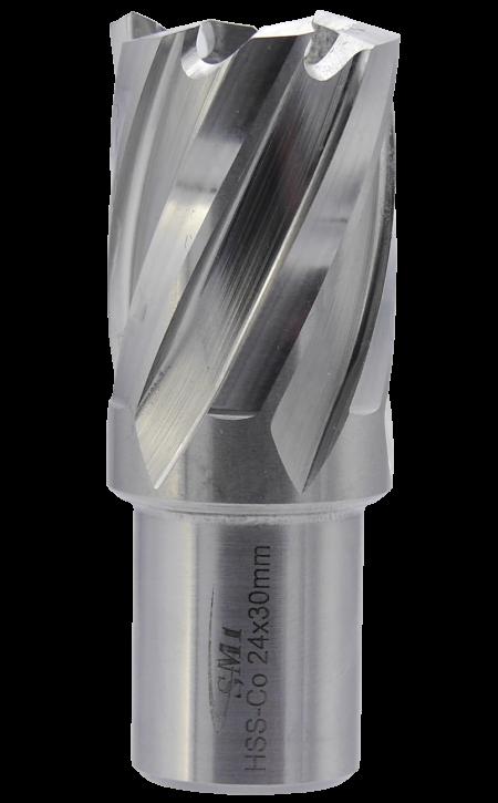 SMI HSS-E Cobalt Kernbohrer 24 mm Drm. 19 mm Weldon Aufnahme