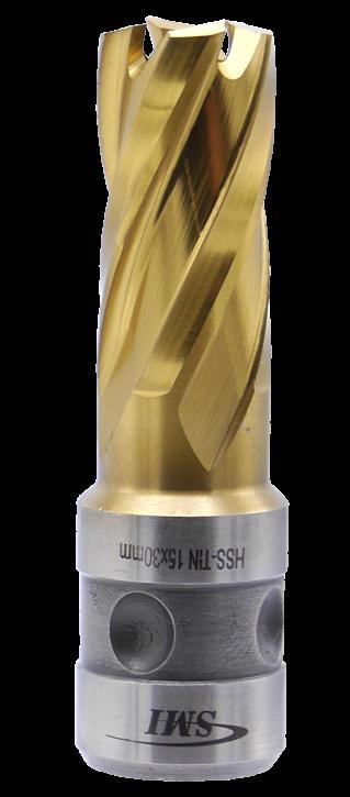 SMI HSS TIN Kernbohrer 15 mm Drm. Fein Quick-In Schaft