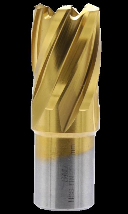 SMI HSS TIN Kernbohrer 22 mm Drm. 19 mm Weldon Aufnahme
