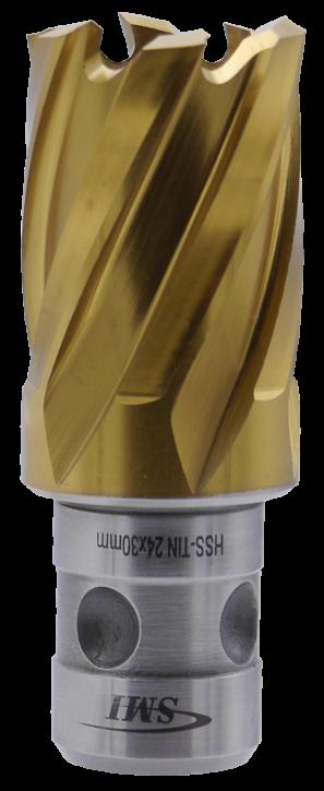 SMI HSS TIN Kernbohrer 24 mm Drm. Fein Quick-In Schaft