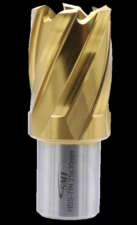SMI HSS TIN Kernbohrer 25 mm Drm. 19 mm Weldon Aufnahme