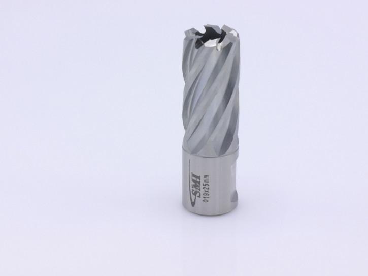 Kernbohrer für Metall Drm. 19 mm Aufnahme Weldon 19 mm