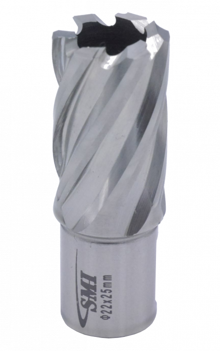 Kernbohrer für Metall Drm. 22 mm Aufnahme Weldon 19 mm