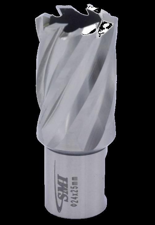 Kernbohrer für Metall Drm. 24 mm Aufnahme Weldon 19 mm