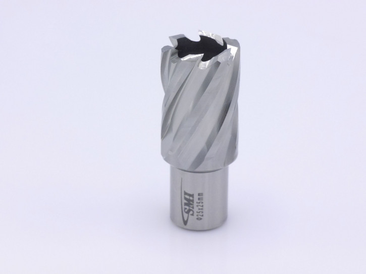 Kernbohrer für Metall Drm. 25 mm Aufnahme Weldon 19 mm