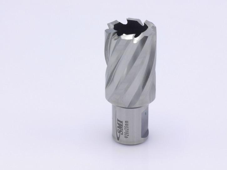 Kernbohrer für Metall Drm. 26 mm Aufnahme Weldon 19 mm
