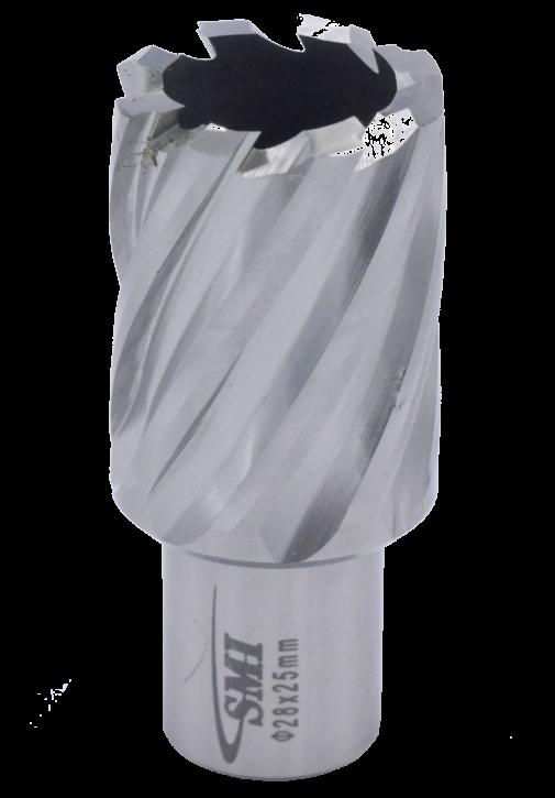 Kernbohrer für Metall Drm. 28 mm Aufnahme Weldon 19 mm