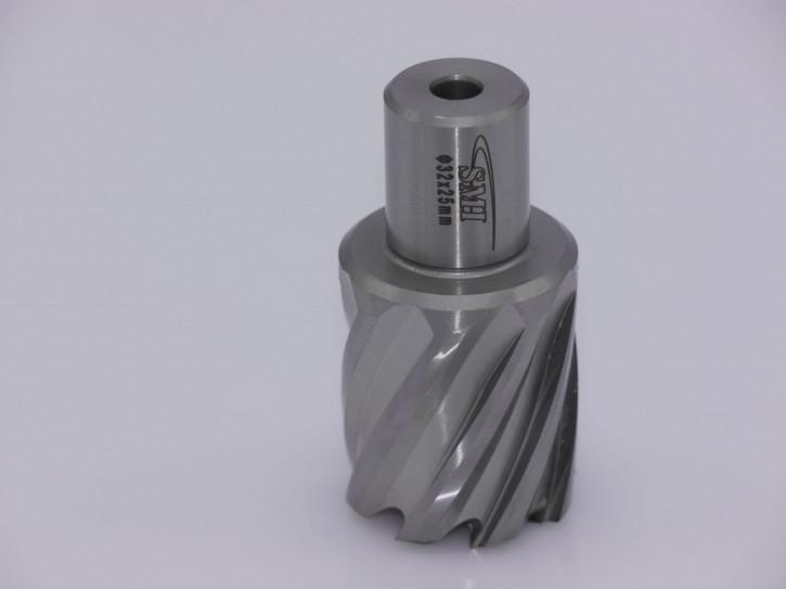 Kernbohrer für Metall Drm. 32 mm Aufnahme Weldon 19 mm