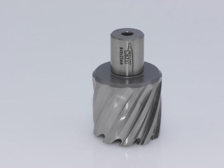 Kernbohrer für Metall Drm. 40 mm Aufnahme Weldon 19 mm