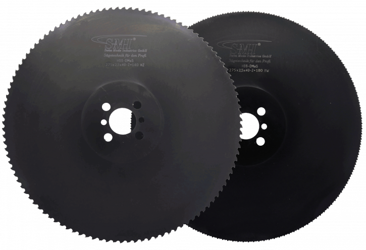 Metallkreissägeblatt HSS Dmo5 275x2,5x40 140 Z + 180 Z MIX-Set