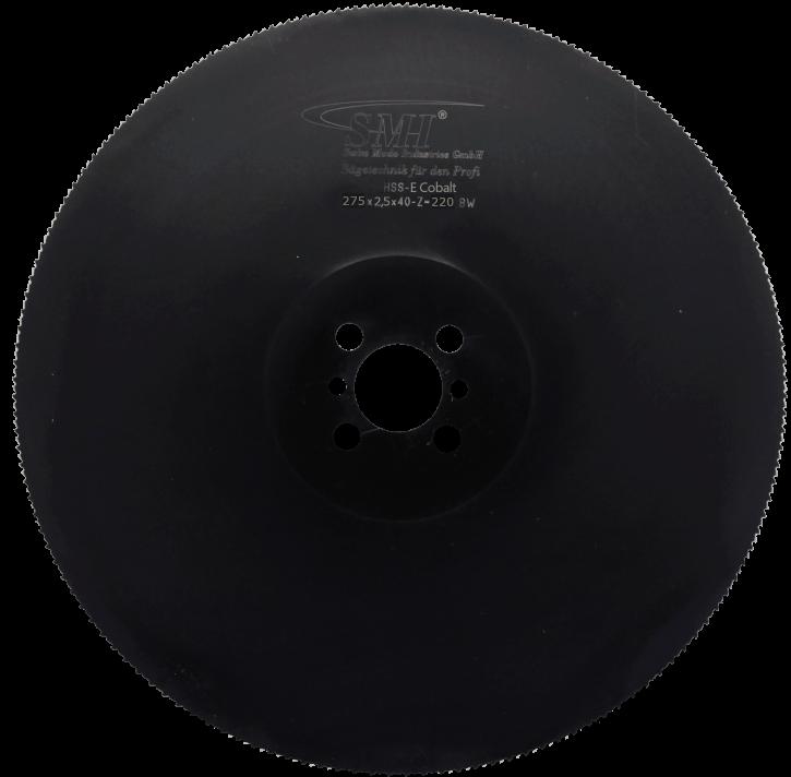 Metallkreissägeblatt HSS-E Cobalt 275x2,5x40 220 Z