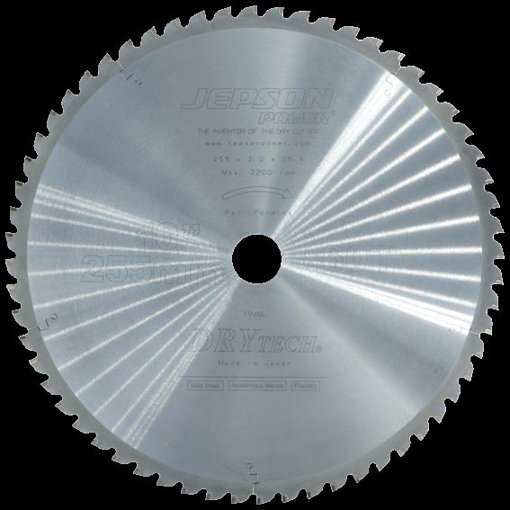 JEPSON Hartmetallsägeblatt 255x2x25,4 mm mit 60 Zähnen