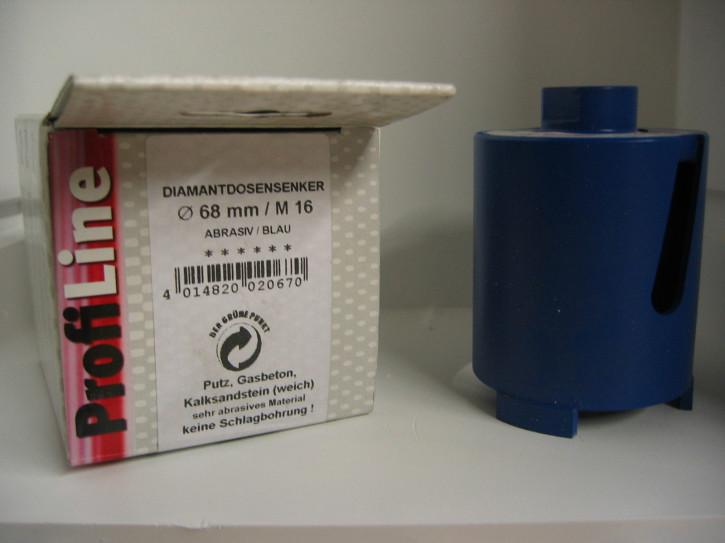 ProfiTech Profi Line Diamantbohrkrone 68 mm Blau