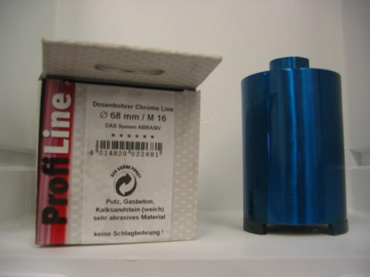 ProfiTech Chrom Line Diamantbohrkrone 68 mm Blau extra Lang