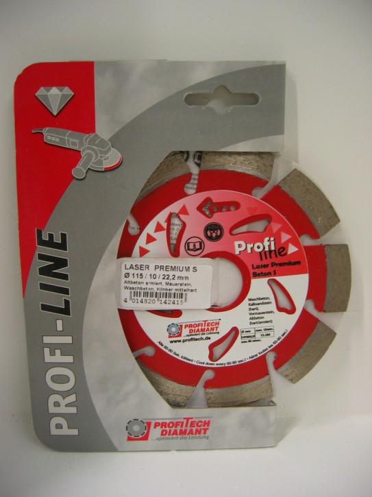 ProfiTech Profi Line Premium Laser Beton S 115x22,2 mm Diamanttrennscheibe