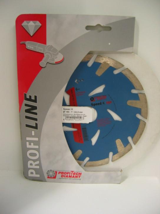 ProfiTech Profi Line Speed K 150x22,2 mm Diamanttrennscheibe