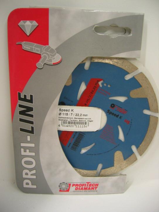 ProfiTech Profi Line Speed K 115x22,2 mm Diamanttrennscheibe