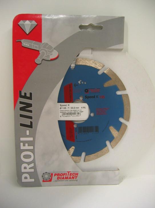 ProfiTech Profi Line Speed K 135x30 mm Diamanttrennscheibe