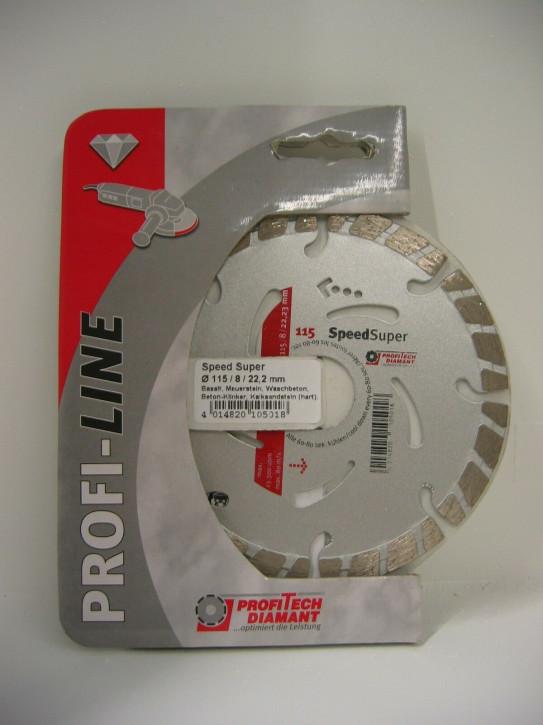 ProfiTech Profi Line Speed Super 115x22,2 mm Diamanttrennscheibe